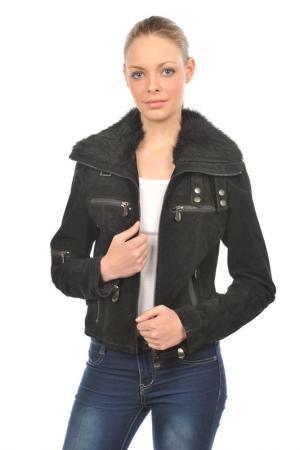 Кожаный блузон Arturo. Цвет: черный
