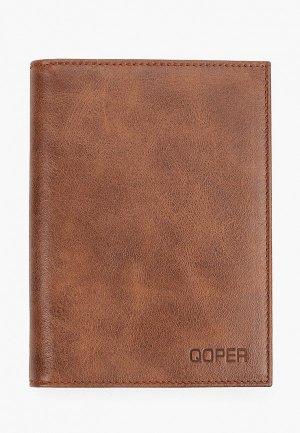 Обложка для документов Qoper. Цвет: коричневый