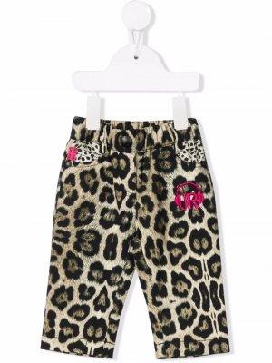 Leopard-print jeans John Richmond Junior. Цвет: нейтральные цвета