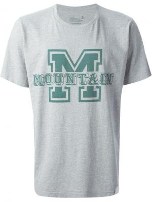 Футболки и жилеты White Mountaineering. Цвет: серый