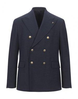 Пиджак GABRIELE PASINI. Цвет: темно-синий