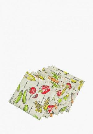 Комплект салфеток сервировочных Семейные ценности Овощное рагу. Цвет: разноцветный