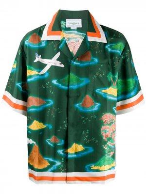 Рубашка с принтом Casablanca. Цвет: зеленый
