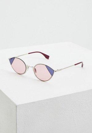 Очки солнцезащитные Fendi FF 0342/S AVB. Цвет: серебряный