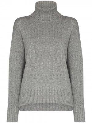 Кашемировый свитер с высоким воротником Polo Ralph Lauren. Цвет: серый