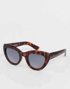 Красные солнцезащитные очки \кошачий глаз\ с леопардовым принтом -Мульти AJ Morgan