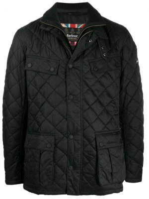 Стеганое пальто Barbour. Цвет: черный