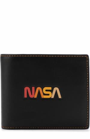 Комплект из кожаного портмоне и футляра для кредитных карт Coach. Цвет: черный