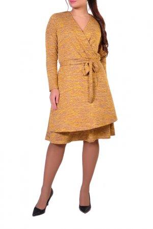 Платье Forus. Цвет: горчичный, желтый