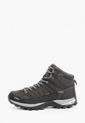 Ботинки трекинговые CMP RIGEL MID WP. Цвет: черный