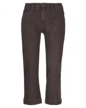 Повседневные брюки CARE LABEL. Цвет: темно-коричневый