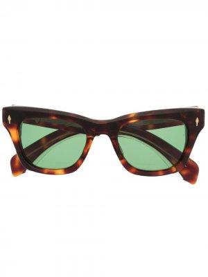 Солнцезащитные очки в оправе кошачий глаз Jacques Marie Mage. Цвет: коричневый