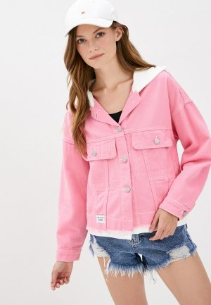 Куртка джинсовая Fadjo. Цвет: розовый