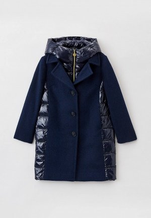 Пальто Silver Spoon. Цвет: синий