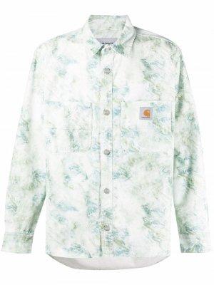 Рубашка с принтом Carhartt WIP. Цвет: зеленый