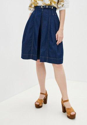 Юбка джинсовая Versace Jeans Couture. Цвет: синий