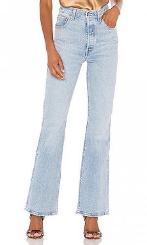 Широкие джинсы ribcage LEVIS LEVI'S. Цвет: синий