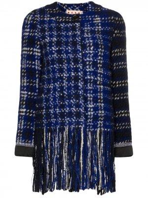 Твидовый пиджак с бахромой Marni