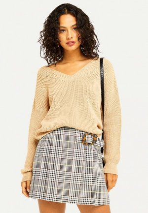 Пуловер Miss Selfridge. Цвет: бежевый