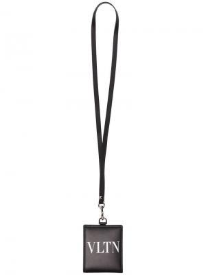 Кошелек VLTN со шнурком на шею Valentino Garavani. Цвет: черный