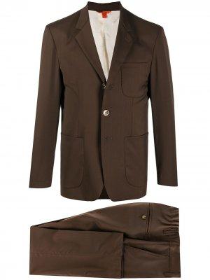 Костюм с однобортным пиджаком Barena. Цвет: коричневый