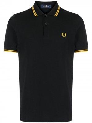Рубашка поло с контрастной окантовкой FRED PERRY. Цвет: черный
