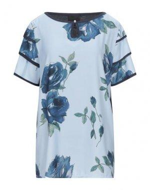 Блузка DANIELA DREI. Цвет: небесно-голубой