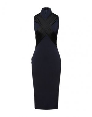 Платье до колена HERVÉ LÉGER. Цвет: темно-синий