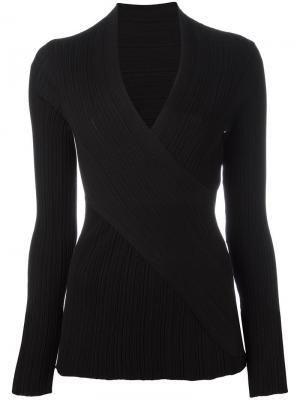 Пуловер с глубоким V-образным вырезом Nina Ricci. Цвет: чёрный