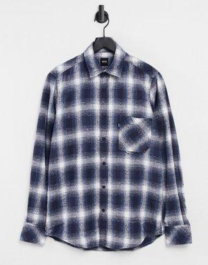 Рубашка с длинными рукавами Riou-Голубой BOSS