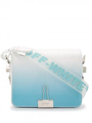 Сумка на плечо с эффектом деграде Off-White. Цвет: синий