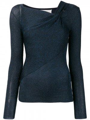 Пуловер с драпировкой и длинными рукавами 3.1 Phillip Lim. Цвет: синий