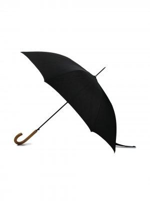 Зонт с вышитым логотипом Paul Smith. Цвет: черный