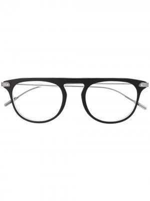 Очки в круглой оправе Dolce & Gabbana Eyewear. Цвет: черный