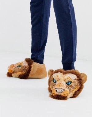 Слиперы в форме льва s-Оранжевый Loungeable
