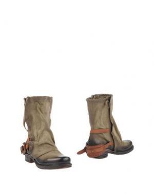 Полусапоги и высокие ботинки AIR STEP. Цвет: зеленый-милитари