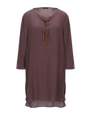 Короткое платье ROBERTO COLLINA. Цвет: какао