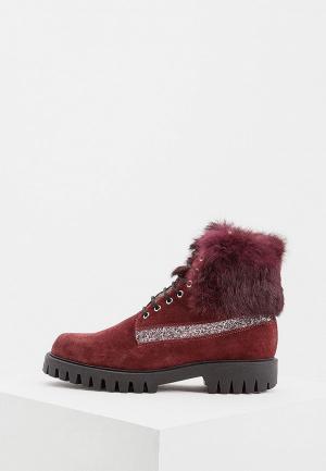 Ботинки Pollini. Цвет: бордовый