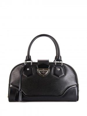 Сумка-тоут Montaigne pre-owned 2010-го года Louis Vuitton. Цвет: черный