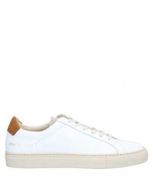 Низкие кеды и кроссовки WOMAN by COMMON PROJECTS. Цвет: белый
