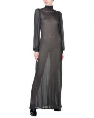 Длинное платье ALISA. Цвет: зеленый-милитари