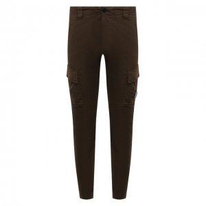 Хлопковые брюки-карго C.P. Company. Цвет: хаки