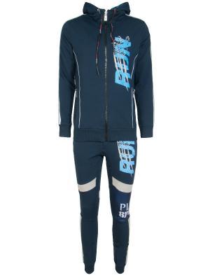 Спортивный костюм Plein Sport. Цвет: синий