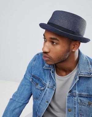 Темно-синяя соломенная шляпа ASOS DESIGN