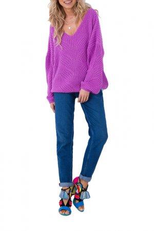 Пуловер FOBYA. Цвет: фиолетовый