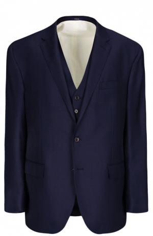Костюм-тройка Polo Ralph Lauren. Цвет: темно-синий