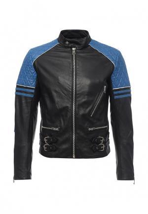 Куртка кожаная Just Cavalli JU662EMOPD32. Цвет: черный