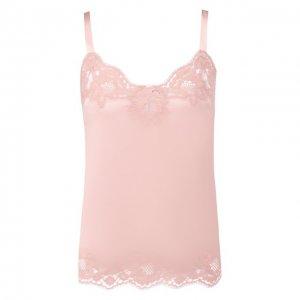 Топ из смеси шелка и хлопка Dolce & Gabbana. Цвет: розовый