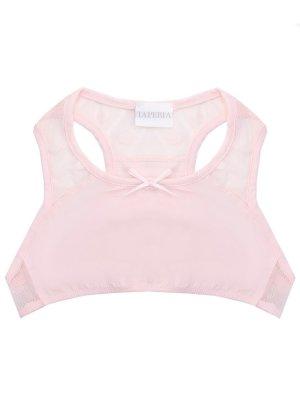 Топ для девочки La Perla. Цвет: розовый