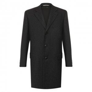 Шерстяное пальто Canali. Цвет: серый